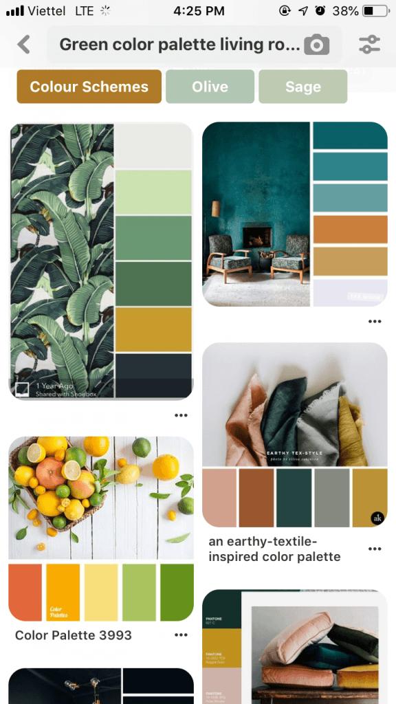 Bước 1. Xác định bảng màu (Color Palette) cho nhà - 4 bước tự lên ý tưởng Trang trí nhà đẹp
