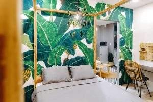 Cách phối màu xanh lá của Homestay Chilla Palace - Tropical Vibe