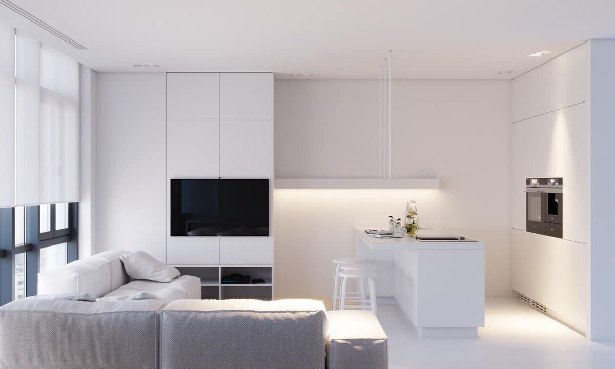 6 gợi ý phối màu trắng sáng tạo không gian nội thất thanh lịch, hiện đại 1