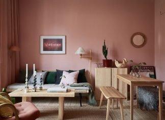 phối màu hồng trang trí nội thất 22