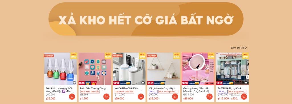 Mua đồ nội thất decor giảm giá trên Shopee 10.10 9