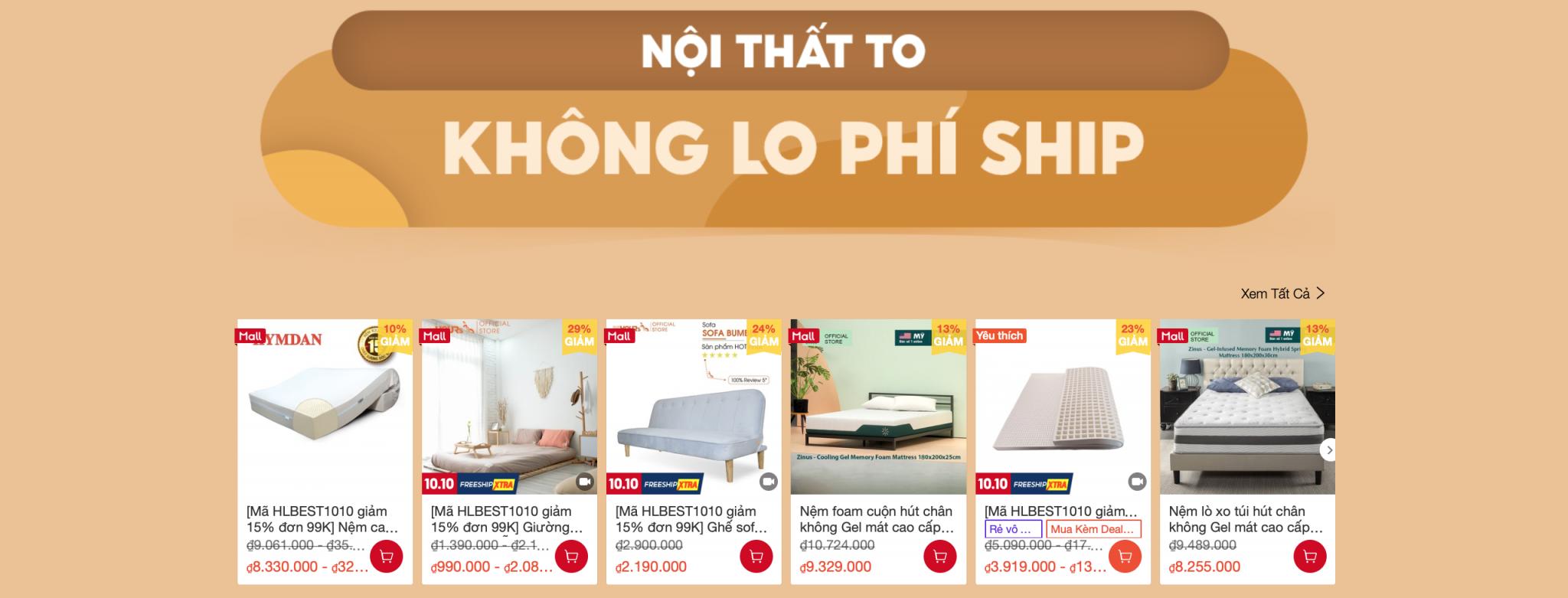 Mua đồ nội thất decor giảm giá trên Shopee 10.10 6